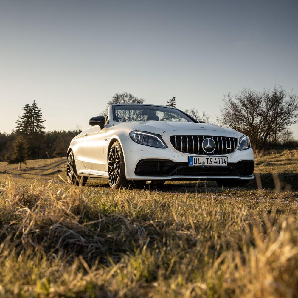 Mercedes-AMG-C63-Cabrio-Sonnenuntergang-Shooting-5