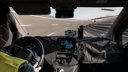 Mercedes Citan Eventbegleitung Teststrecke Fahrerassistenz Testfahrer