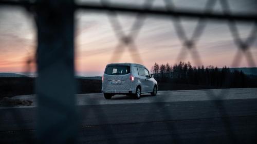 Mercedes Citan Sonnenuntergang Packshot Teststrecke T-Klasse