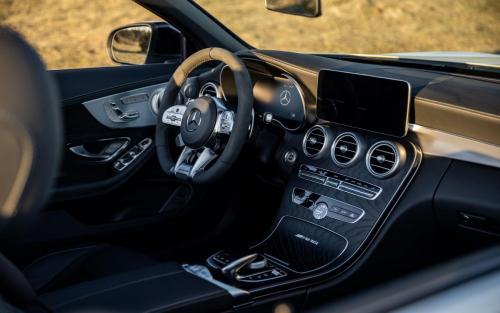 Mercedes-AMG C63 Cabrio Fotoshooting Natur V8 weiss Ulm Schwäbische Alb Autofotograf Sonnenuntergang Interieur Ledersitze schwarz