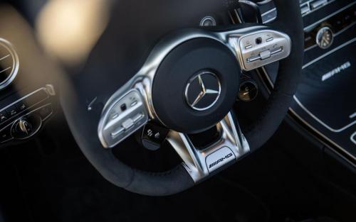 Mercedes-AMG C63 Cabrio Fotoshooting Natur V8 weiss Ulm Schwäbische Alb Autofotograf Lenkrad Interieur AMG
